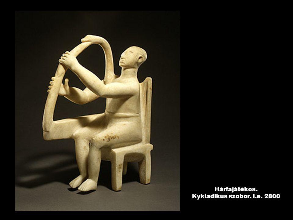 Hárfajátékos. Kykladikus szobor. I.e. 2800