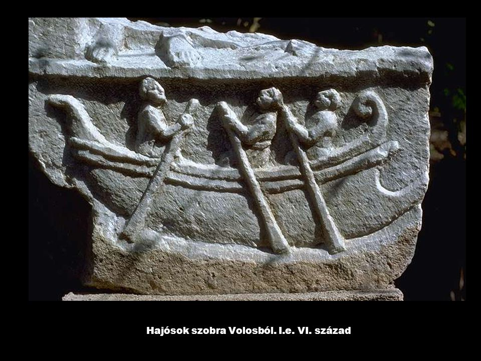 Hajósok szobra Volosból. I.e. VI. század