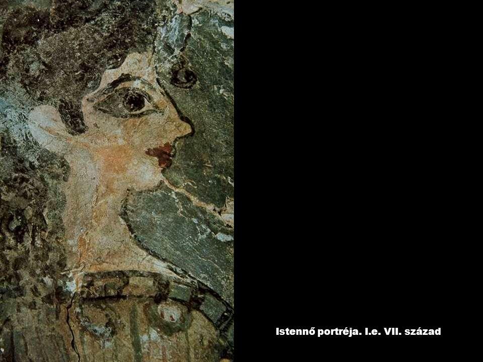 Istennő portréja. I.e. VII. század