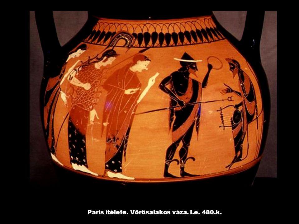 Paris ítélete. Vörösalakos váza. I.e. 480.k.