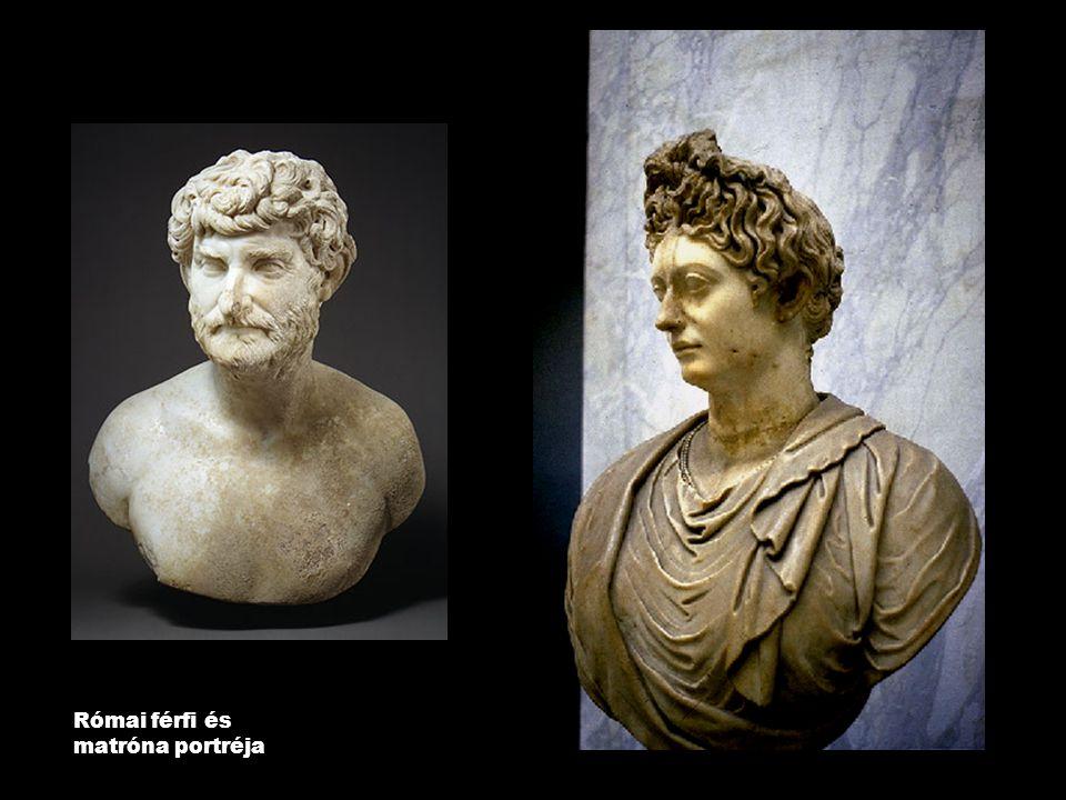 Római férfi és matróna portréja