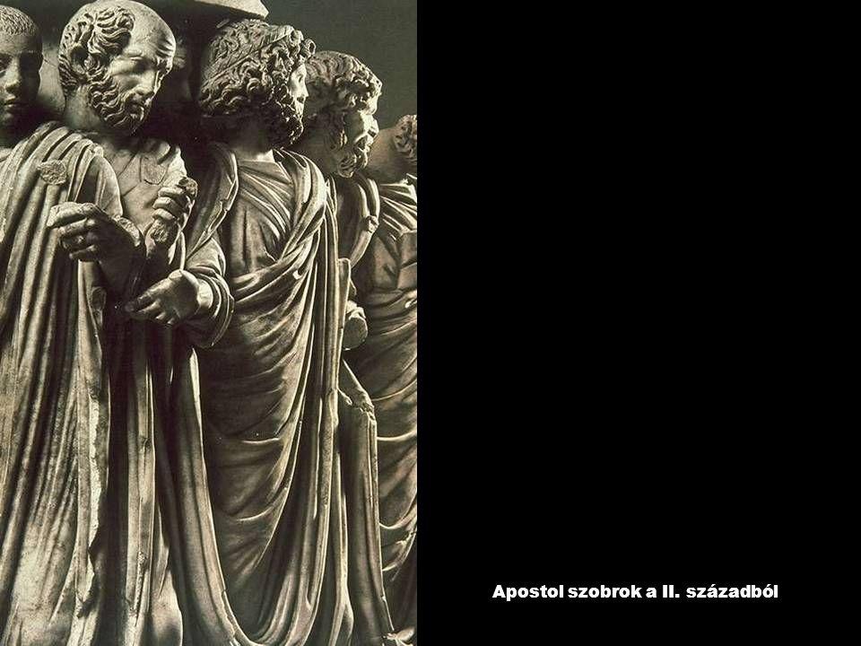 Apostol szobrok a II. századból
