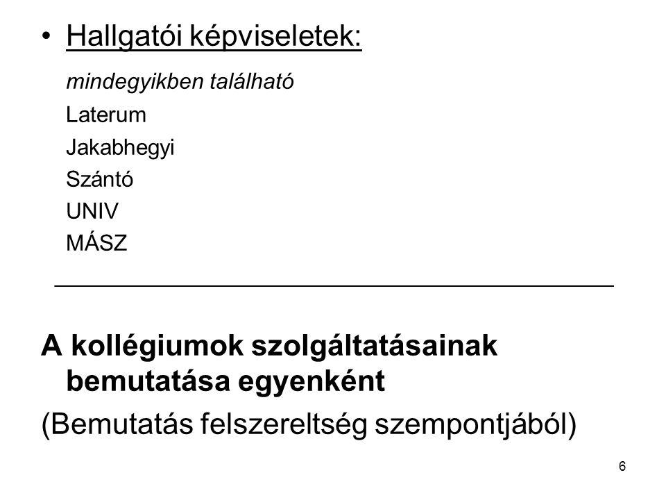 7 Jakabhegyi (úti) kollégium 7624 Pécs, Jakabhegyi út 8.