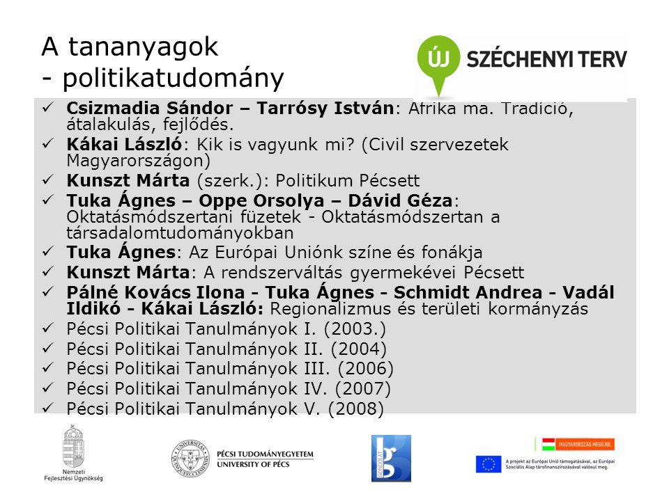 A tananyagok - politikatudomány Csizmadia Sándor – Tarrósy István: Afrika ma.