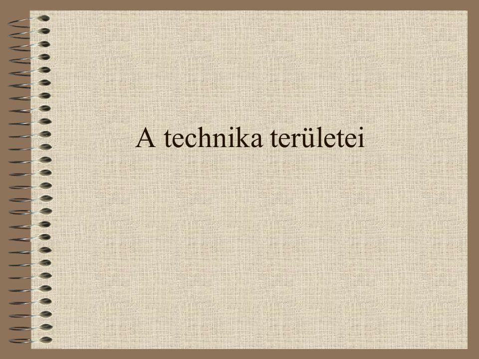 A technika területei