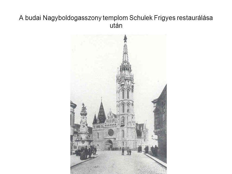 A budai Nagyboldogasszony templom Schulek Frigyes restaurálása után