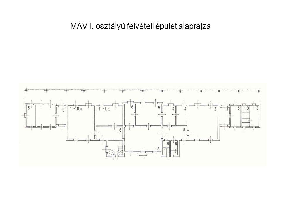 MÁV I. osztályú felvételi épület alaprajza