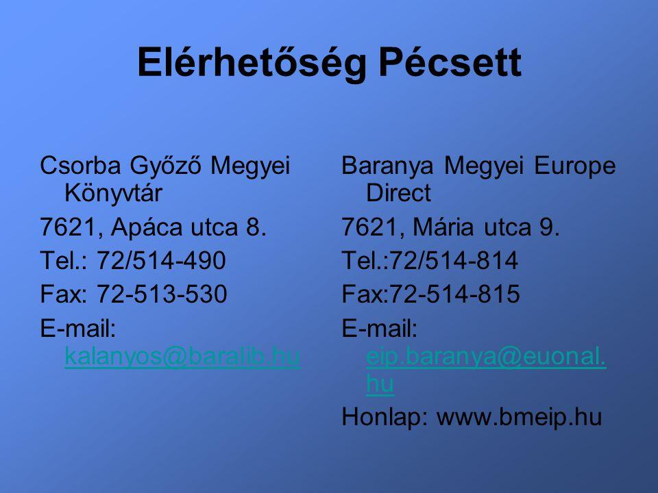 Elérhetőség Pécsett Csorba Győző Megyei Könyvtár 7621, Apáca utca 8.