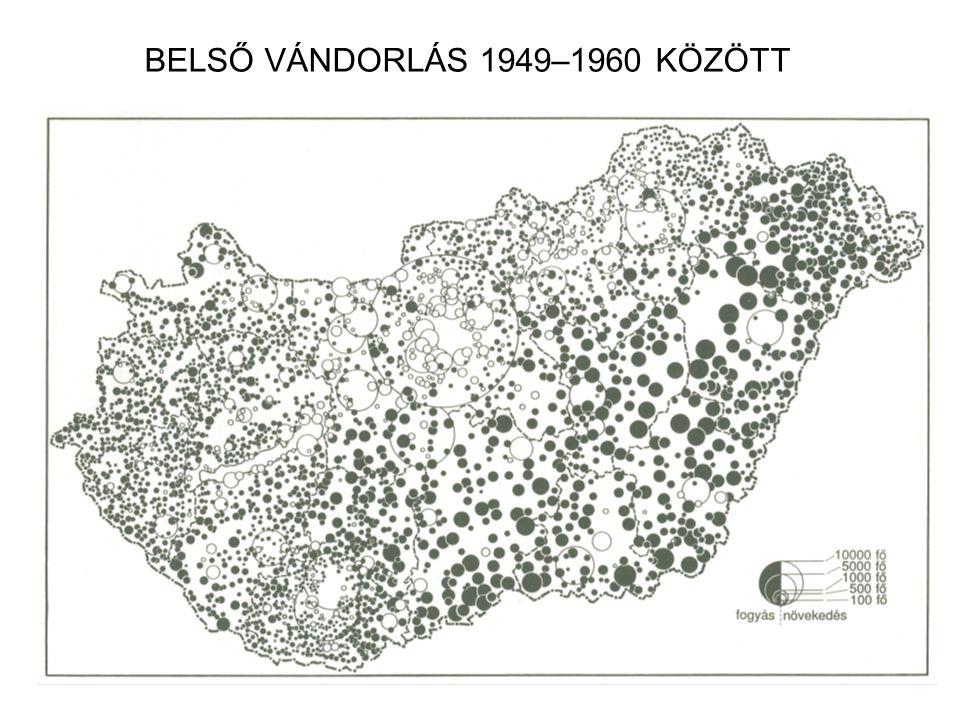 BELSŐ VÁNDORLÁS 1949–1960 KÖZÖTT