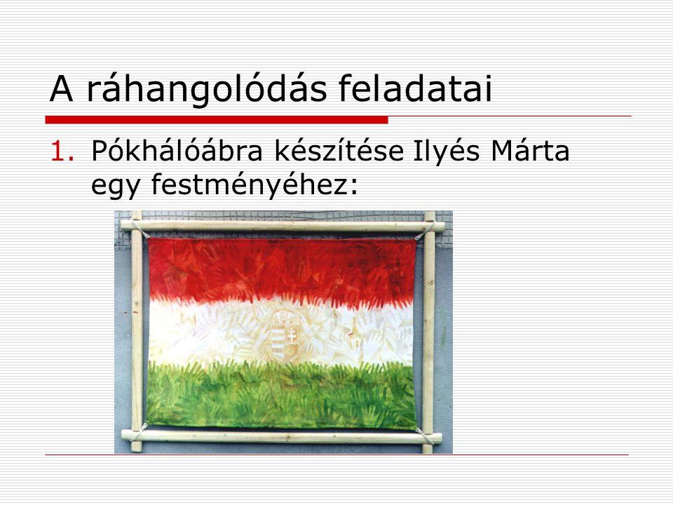 A ráhangolódás feladatai 1.Pókhálóábra készítése Ilyés Márta egy festményéhez: