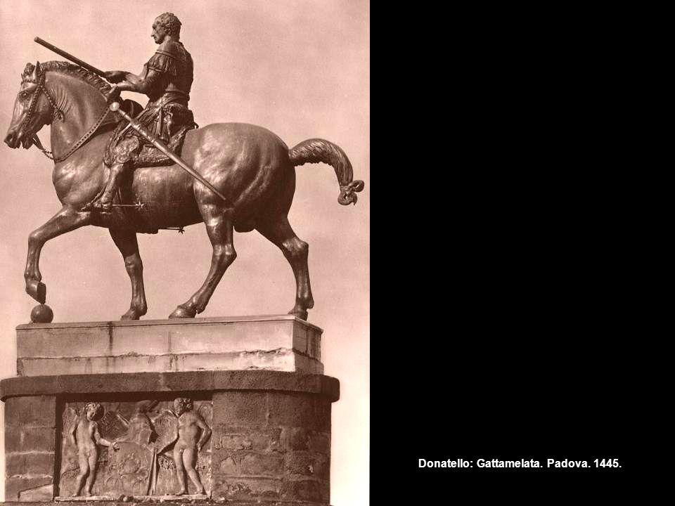 Donatello: Gattamelata. Padova. 1445.