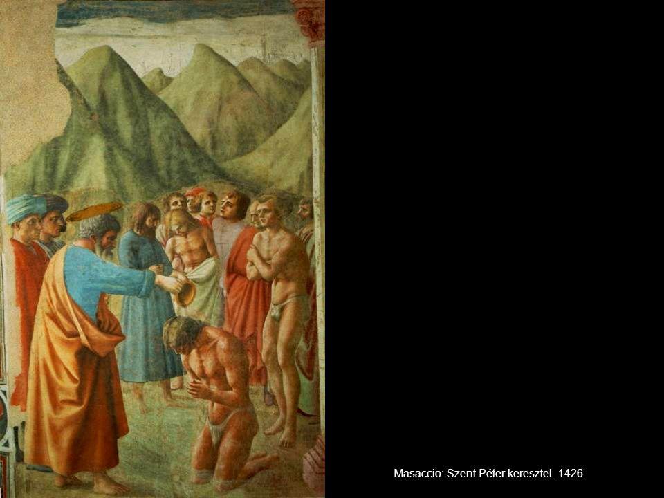 Masaccio: Szent Péter keresztel. 1426.
