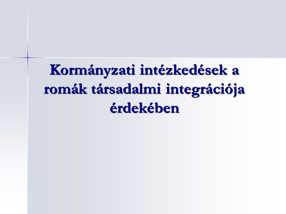 Kormányzati intézkedések a romák társadalmi integrációja érdekében