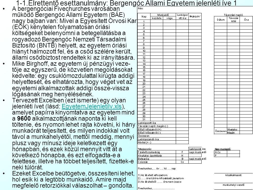 """Bevezetés: Mire való az Excel (és általában a táblázatkezelők)? """"Az Excel idióta amerikai titkárnők számára készített szoftver"""" (Ismeretlen egyetemi o"""