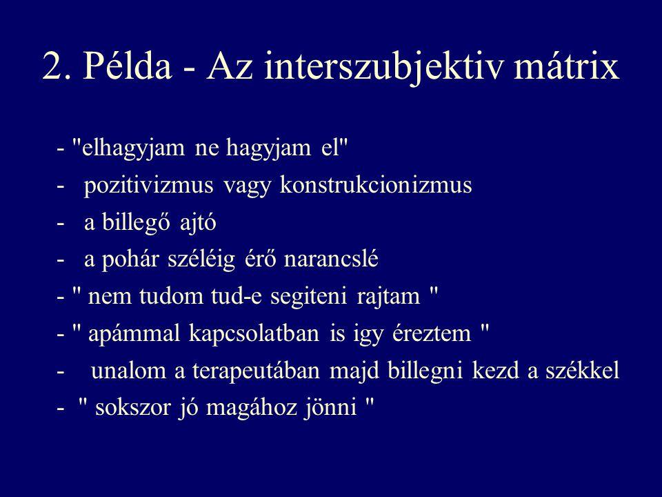 2. Példa - Az interszubjektiv mátrix -