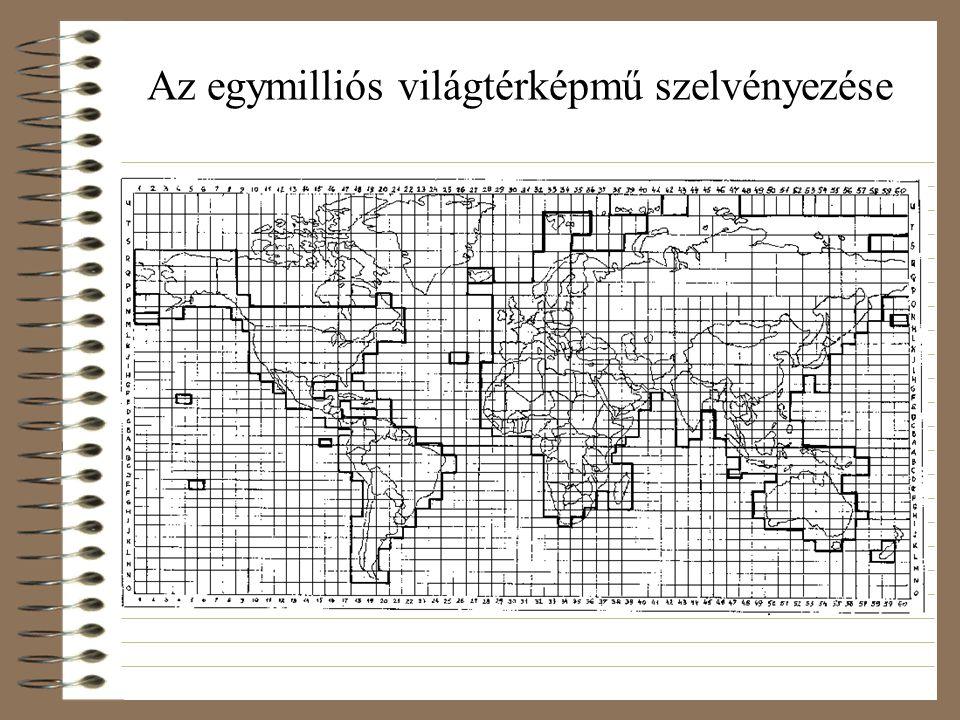 Az egymilliós világtérképmű szelvényezése