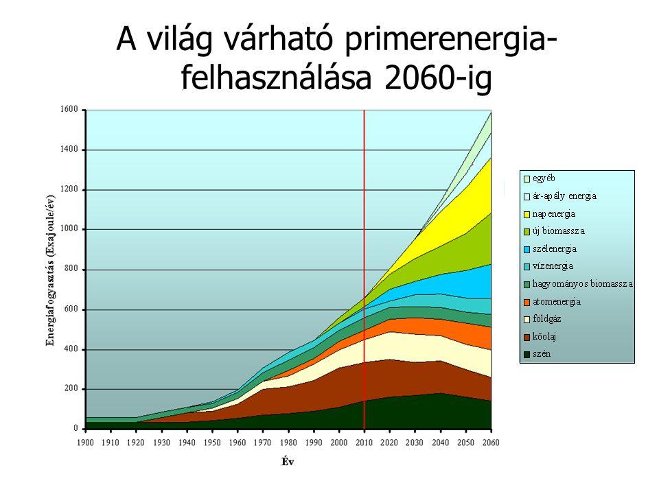 A világ várható primerenergia- felhasználása 2060-ig