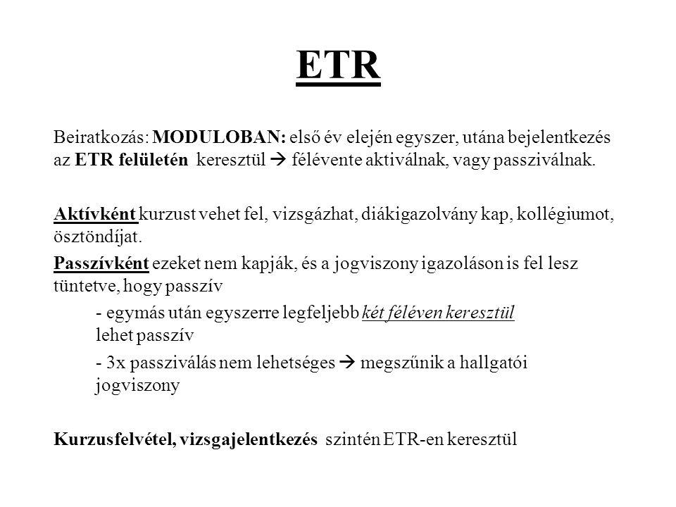 ETR-Személyes adatok Taj, adó és bankszámlaszám kötelező, akkor is, ha nem önköltséges a hallgató.