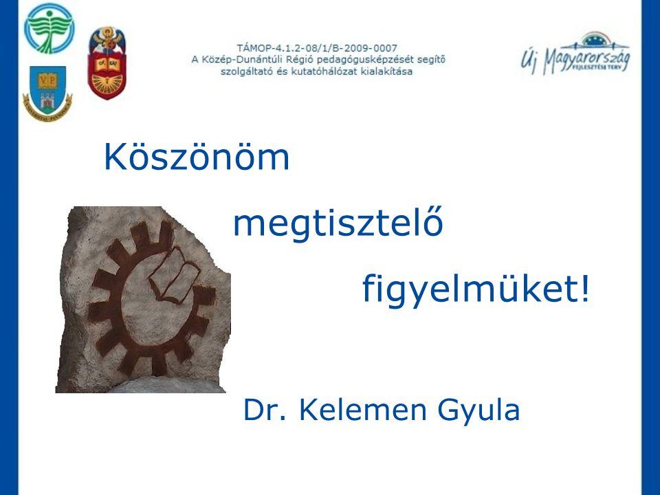 Köszönöm megtisztelő figyelmüket! Dr. Kelemen Gyula