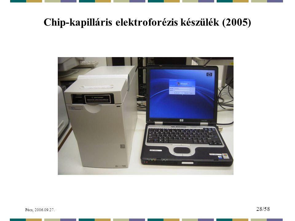 Pécs, 2006.09.27. 28/58 Chip-kapilláris elektroforézis készülék (2005)