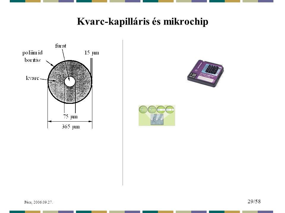 Pécs, 2006.09.27. 29/58 Kvarc-kapilláris és mikrochip