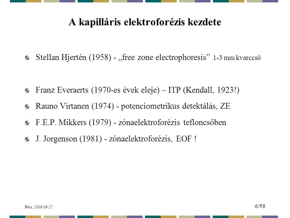 Pécs, 2006.09.27.67/58 Elektrokromatogram. Minta: cytochrome c tripszines emésztés után.