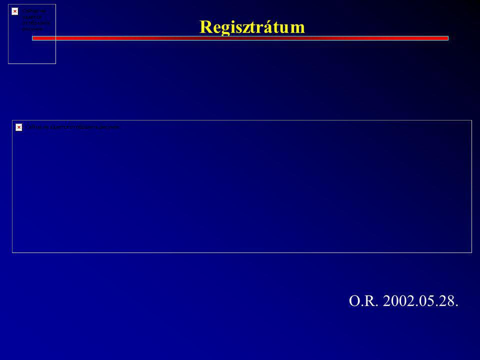 Regisztrátum O.R. 2002.05.28.