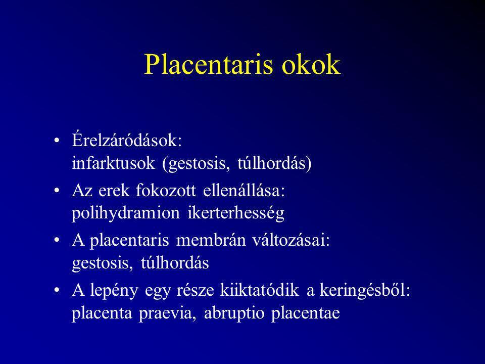 Prophylacticus amnioinfusio  Hígul a meconium  Csökken az oligohydramnion mértéke  Csökken a köldökzsinór kompresszió  Csökken a magzati hypoxia  Csökken a meconium előfordulása a hangszalag alatt  Csökken a meconium aspiratios syndroma előfordulása Sadovsky Y.: Am J Obstet Gynecol 1989 Wenstrom KD.:Obstet Gynecol 1989 Dye T.: Am J Obstet Gynecol 1994 Cialone PR.:Am J Obstet Gynecol 1994