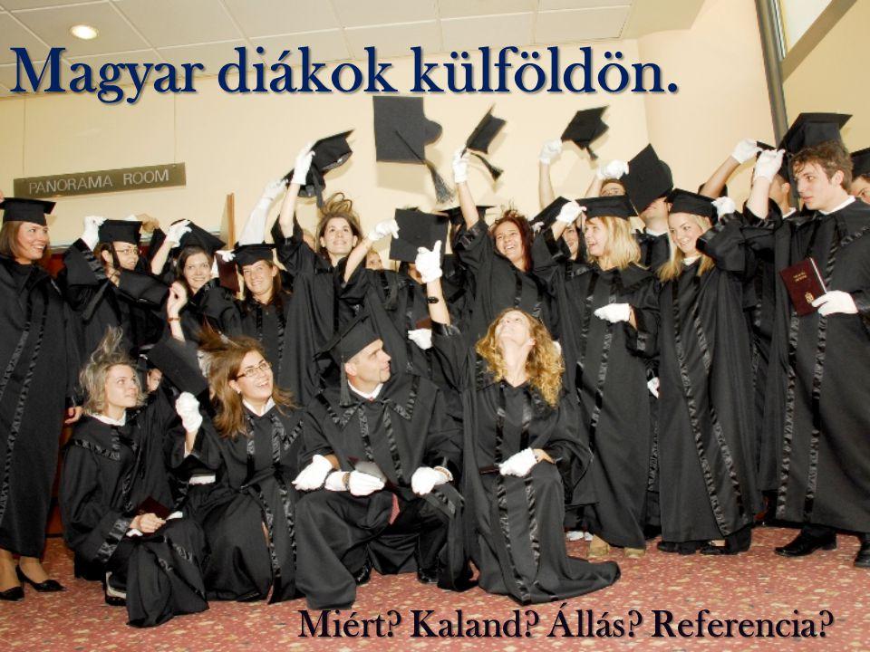 Magyar diákok külföldön. Miért? Kaland? Állás? Referencia?