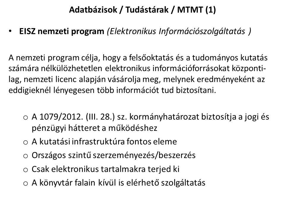 Az MTMT szolgáltatásai Online hiteles tudományos eredmény-nyilvántartást biztosít, és bemutatja az eredményeket, magyar és részben angol nyelven Nyilvános, hiteles, átvehető és hivatkozható publikációs listákat ad.