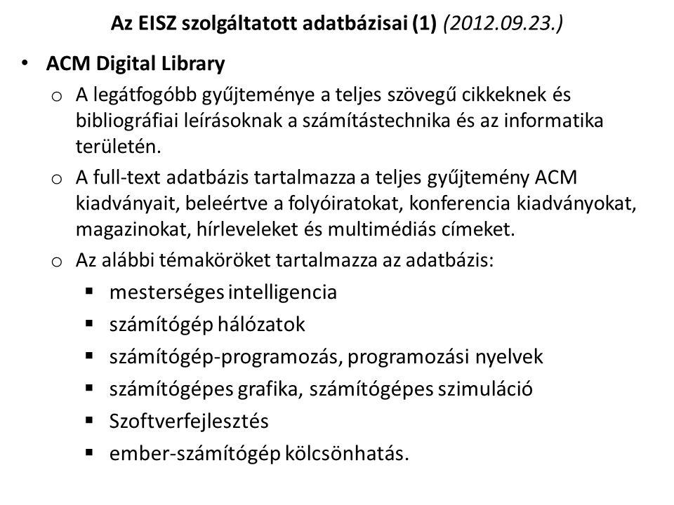 Az EBSCO Publishing EBSCOhost nevű szolgáltatása.