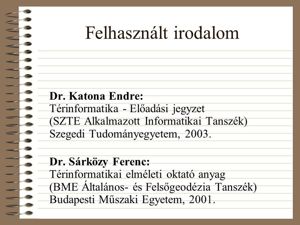 Felhasznált irodalom Dr.