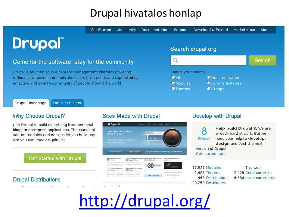 Drupal hivatalos honlap http://drupal.org/
