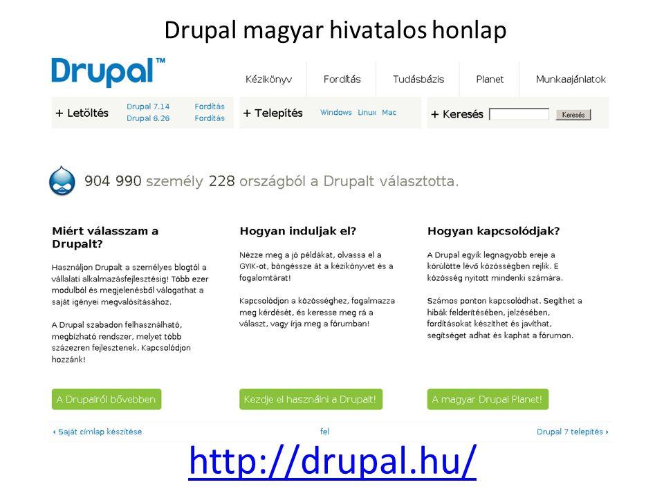 Drupal magyar hivatalos honlap http://drupal.hu/