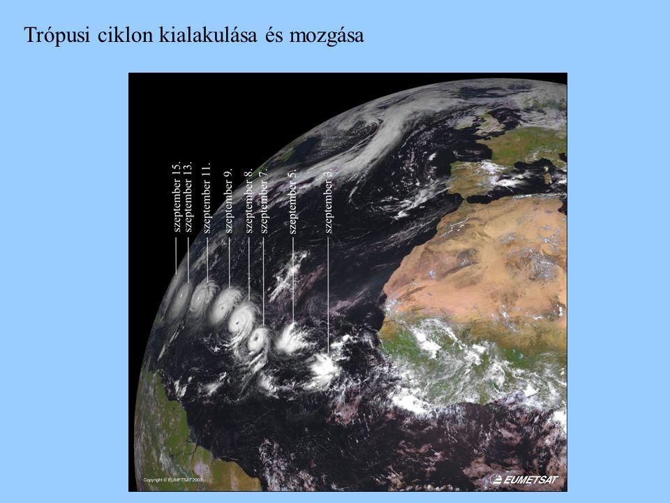 Trópusi ciklon kialakulása és mozgása