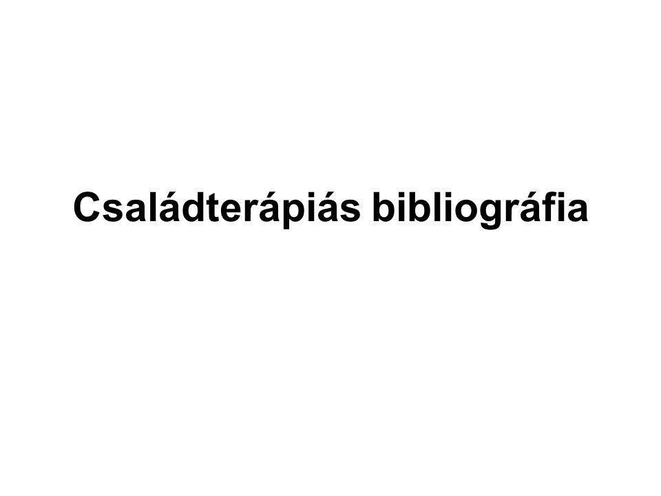 Családterápiás bibliográfia