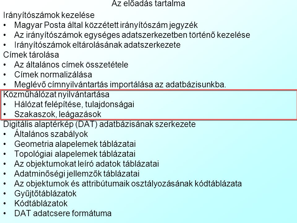 Meglévő címek importja az adatbázisba 3 Vannak esetek, amikor a cím import fájlban nem konzisztens adatok vannak, mert a korábbi adattárolás nincs fel