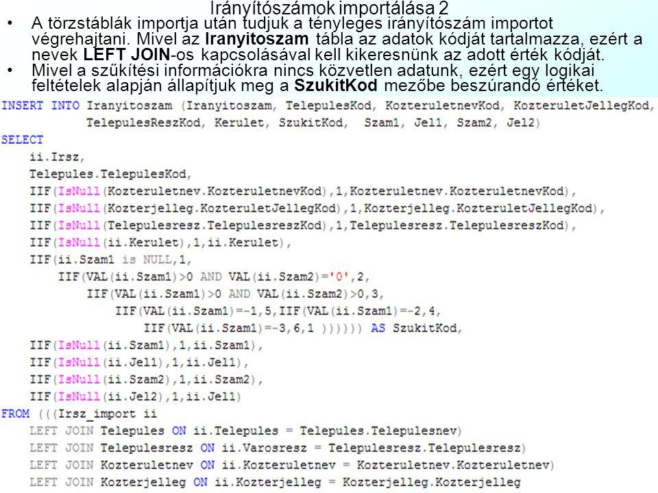 Egyéb DAT Táblázatok: Adatminőségi jellemzők táblázatai: T_AHASZN_REGTényleges adathasználat regisztrálandó adatai T_ATTRBIZNAttribútumféleségek meghatározási bizonytalansága T_ATTRELTERAttribútum értékek eltérési minőségadatainak táblázata T_BIZALOMBizalmas adatkezelés adatainak táblázata T_DAT_KORLDAT ‑ táblázatok és konkrét objektumok használatkorlátozás T_EREDETEredet adatminőségi jellemzőinek gyűjtőtáblázata T_HITELESHitelesítés és állami átvétel adatainak táblázata T_KONZISZTAdat konzisztencia jellemzőinek táblázata T_MUVELET_REGDAT ‑ ban végzett műveletek regisztrálandó adatai T_OSADATAL12Ősadatállomány minőségadatainak táblázata T_QGEOMETRIAGeometriai adatok minőségének táblázata T_TELJESSEGAdatok teljességét leíró táblázat Az objektumok és attribútumaik osztályozásának kódtáblázatai: T_ATTR_CSOPAttribútumok csoportjainak kódtáblázat T_OBJ_CSOPObjektumcsoportok kódtáblázata T_OBJ_FELSObjektumféleségek kódtáblázata T_OBJ_OSZTObjektumosztályok kódtáblázata Gyűjtőtáblázatok: T_CEGCégek adatainak táblázata T_CIMPostacímek táblázata T_CIM_KULFOLDKülföldi címek táblázata T_FELIRATMagyarázó szövegek, feliratok és névrajzi megírások T_FOLDTULAJ_GYFöldrészlettulajdonosok és tulajdonhányadaik T_HELYREALL_GYAlappontok helyreállítási adatainak gyűjtőtáblázata T_HELYREALL_GYIOIránypontok és őrpontok helyreállítási adatai T_HELYSZIN_GYAlappontok helyszínelési adatainak gyűjtőtáblázata T_HELYSZIN_GYIOIránypontok és őrpontok helyszínelési adatai T_IRANYPONT_GYVízszintes alappontok iránypontjainak gyűjtőtáblázata