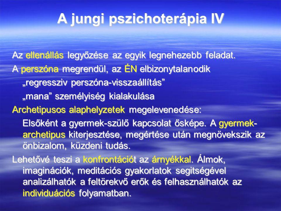 A jungi pszichoterápia IV Az ellenállás legyőzése az egyik legnehezebb feladat.