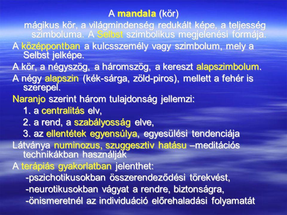 A mandala (kör) mágikus kör, a világmindenség redukált képe, a teljesség szimboluma.