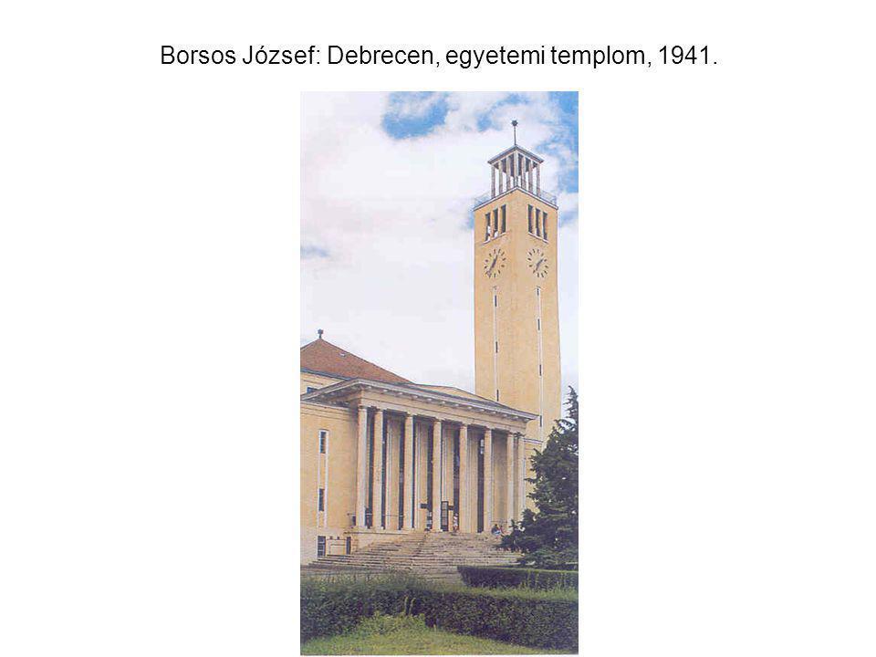 Borsos József: Debrecen, egyetemi templom, 1941.