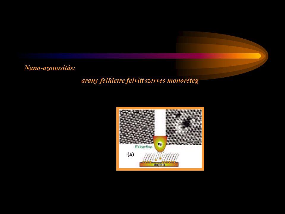 Nano-azonosítás: arany felületre felvitt szerves monoréteg
