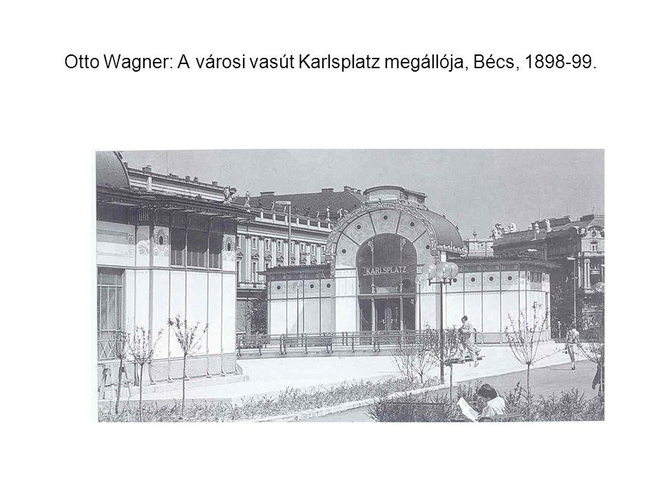 Otto Wagner: A városi vasút udvari pavilonja, Bécs, 1898.