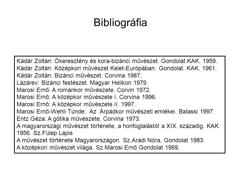 Kádár Zoltán: Ókeresztény és kora-bizánci művészet. Gondolat.KAK. 1959. Kádár Zoltán: Középkori művészet Kelet-Európában. Gondolat. KAK. 1961. Kádár Z