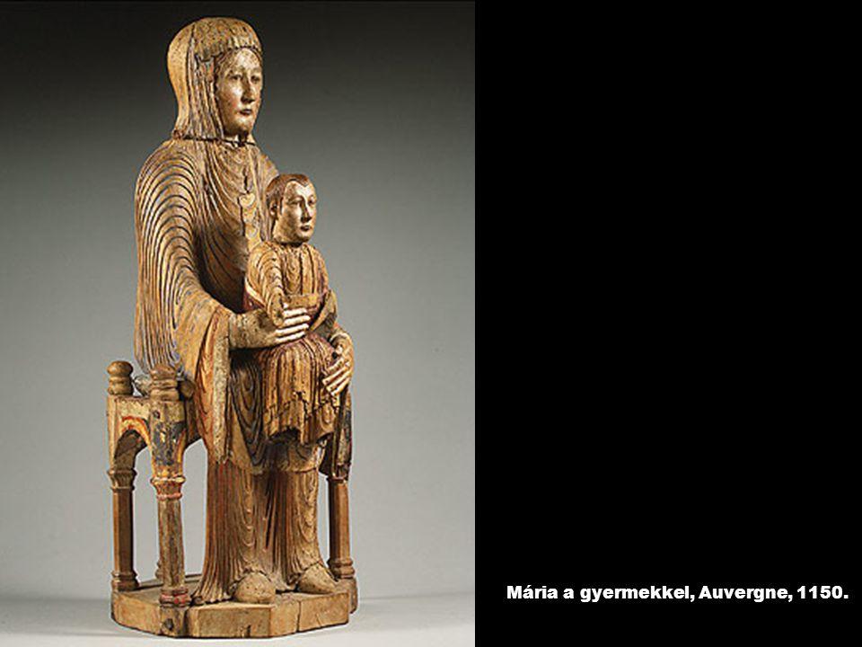Mária a gyermekkel, Auvergne, 1150.