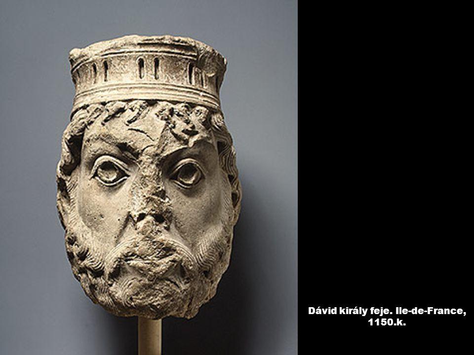 Dávid király feje. Ile-de-France, 1150.k.