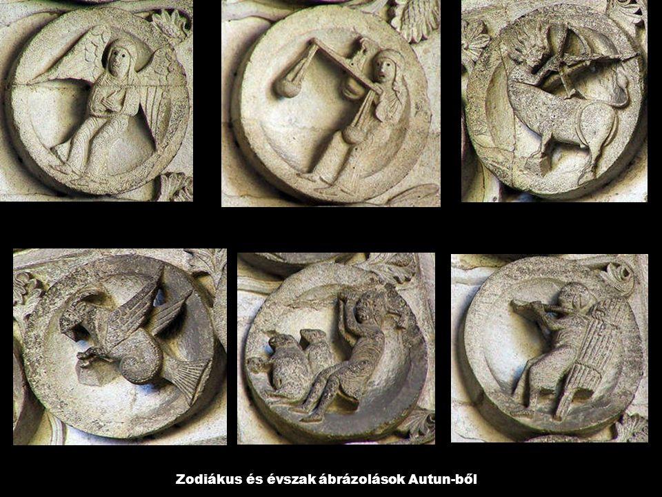 Zodiákus és évszak ábrázolások Autun-ből