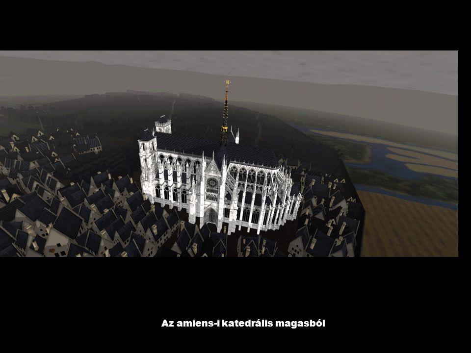 Az amiens-i katedrális magasból