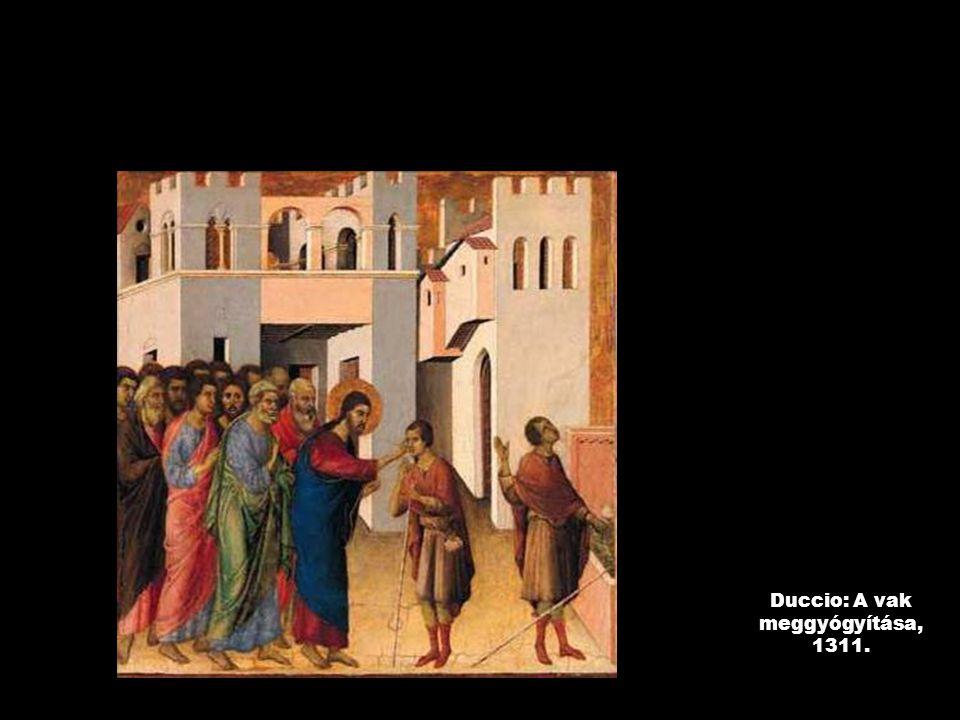 Duccio: A vak meggyógyítása, 1311.