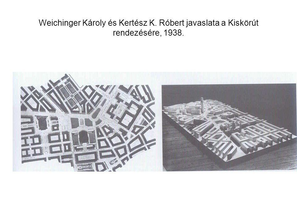 Weichinger Károly és Kertész K. Róbert javaslata a Kiskörút rendezésére, 1938.
